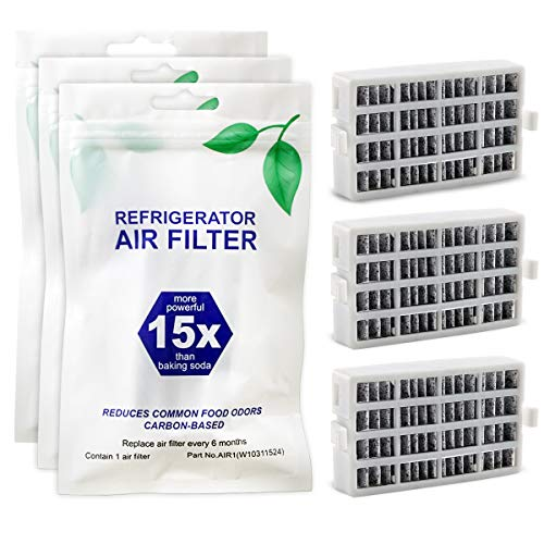 Funmit W10311524 AIR1 FreshFlow Air Filter for Whirlpool Refrigerator - Replaces W10311524 2319308 W10335147 1876318 - 3 Pack