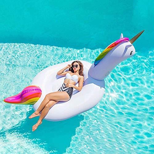 Gcxzb Schwimmreifen Aufblasbare Pool Spielzeug Sommer Strand meeride groß weiß Horse schwimmende Reihe Erwachsene Wasser Spielzeug Montage Schwimmbad Schwimmen Ring wasserbett Sofa schwimmende Reihe