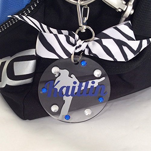 Karate Girl Bag Tag Personalized with Your Name and Your Colors