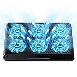 2020年最新版 ノートパソコン 冷却パッド 冷却台 ノートPCクーラー 6つ冷却ファン 超静音 風量調節 6段階角度調整 USBポート2口 17インチ型まで対応(ブラック)