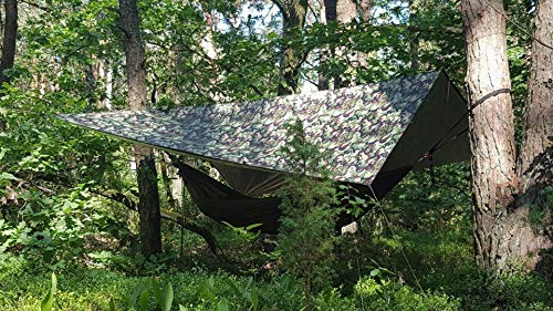 Bushmen Thermo Tarp 3 x 3 Meter Camouflage, Regendach, Isomatte