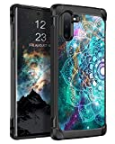 BENTOBEN Galaxy Note 10 Case, Shockproof Dual Layer Glow in the Dark Noctilucent Hybrid Hard PC Soft TPU Bumper Rugged Protective Phone Cases Cover for Samsung Galaxy Note10 6.3inch, Mandala in Galaxy