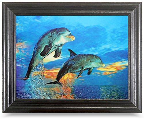 Delfine at Sea Optische Illusionen, Hologramm, 3D-Bild, Lentikular-Kunst
