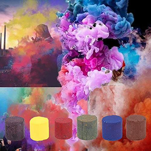 Colorful Effect Smoke, Multicolor Smoke Cake Round Fog Effect Maker for Stage Show Studio...