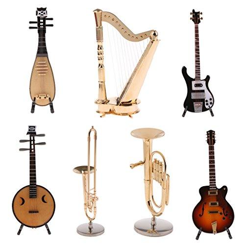 Sharplace Escala 1/6 Modelo de Instrumento Musical de Madera en Miniatura para 12inchs Figura de Acción Juguete para Niños - Pipa