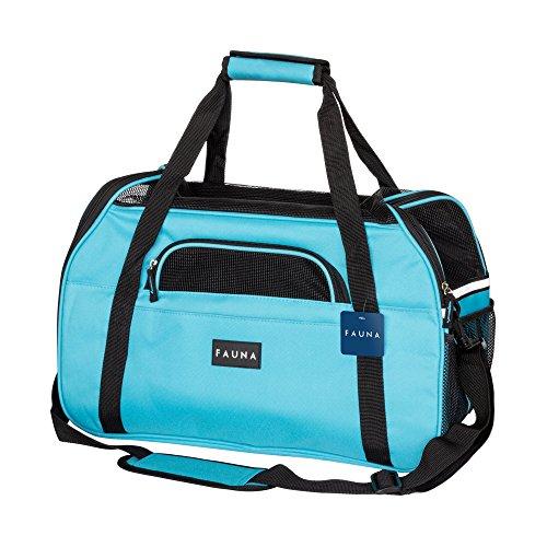 Fauna CARRIER-1002 Pet Travel Carrier Hund/Katze/Puppy-leicht zusammenklappbar Flugzeug Tasche mit weichem Kissen, Light Blue