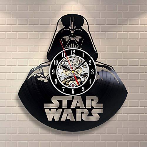 Black Hollow CD Record Clock Het thema Antieke stijl Vinyl Wandklok Hot Sale Hangende LED-klok