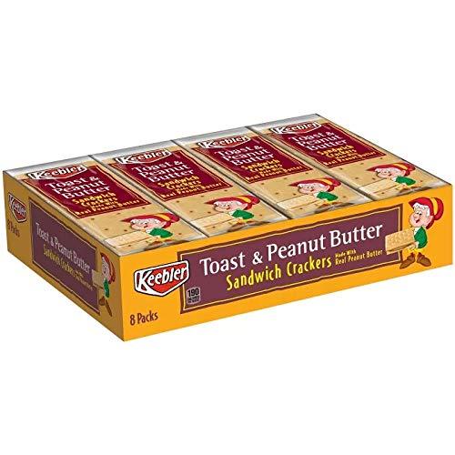 Keebler Toast & Peanut Butter Sandwich Crackers Snack Pack, 1.8 Oz (12-pack)