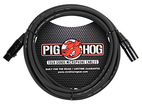 Pig Hog PHM10 8mm Tour Grade Mic Cable, XLR 10ft - 2-pack