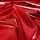 Metallic Shiny Red Foil Lame Tricot Craft Dress Decor