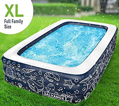 GALVANOX Above Ground Pool (10ft x 30in) Swimming Pool with Filter Pump for Family/Kids/Adults