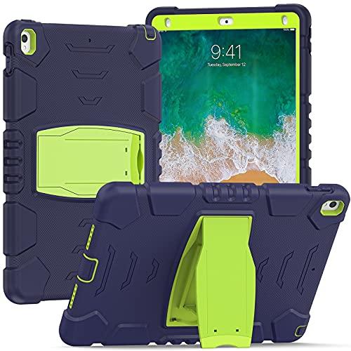 Tablet PC Bag Caso per bambini per iPad Pro 10.5   Air 10.5, Tre layer PC + TPU Hybrid Hybrid Hybrid Antiurto Caso di copertura protettiva robusta robusta, coperchio del supporto in silicone morbido