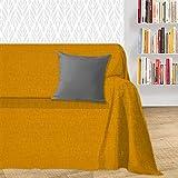 Byour3® Funda De Sofá Algodón 1 2 3 4 Plazas Ligero Granfoulard Tela Sofa Cubre Todo Protector De Sofás Forma de L U Chaise Longue Derecho Izquierdo Lavable (Calabaza Dakar, 2 plazas)
