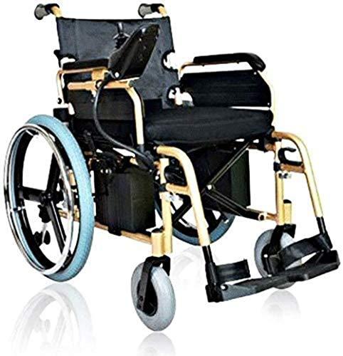 HZYDD Silla de Ruedas Multifuncional de Silla de Ruedas, Silla de Ruedas eléctrica Inteligente portátil Plegable, rotación de 360 °, Adecuada para: Ancianos/deshabilitados