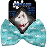 Peace and Hanukkah Pet Bow Tie Collar Accessory with Velcro