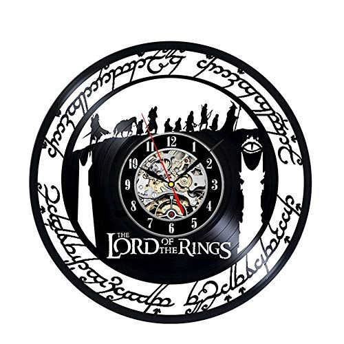 hniekhngwut Signore degli Anelli, Orologio da Parete in Vinile, Fatto a Mano, Vintage, Retro, Vuoto, Vinile, Orologio, Orologio, Decorazione, casa, Orologio, Orologio