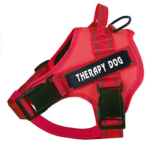 Arnés de perro sin tirar, arnés de chaleco para perros con correas reflectantes, ligero transpirable y ajustable para mascotas, arnés de chaleco para mascotas fácil de poner y quitar para perros pequeños medianos y grandes.