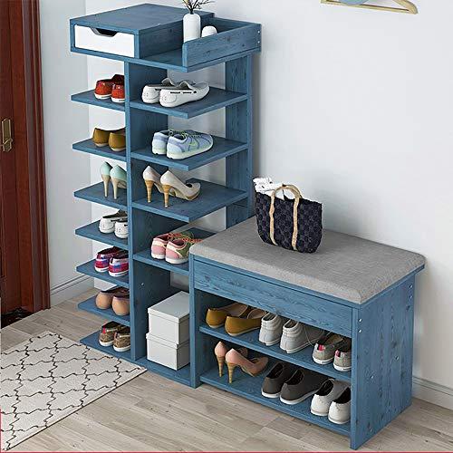 Schoenenmeubels, schoenenbank, opbergkast, entree, kasten, organizer met zitkussen, voor schoenenkast, kast, houder plank voor de slaapkamer van de C