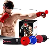Boxing Reflex Ball Set - 4 Difficulty Levels Great for Reaction Speed and Hand Eye Coordination Training Boxing Equipment Fight Speed, Boxing Gear, Punching Ball Reflex Bag Alternative (Set of 4)
