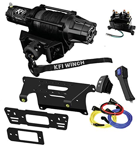 Amazing Deal KFI Combo Kit - AS-50w Assault Wide Winch Mount Bracket, Wiring, Switches, Remote Kit -...