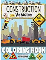 Construction Vehicles Coloring Book