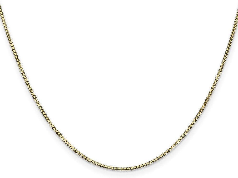 Brilliant Bijou Ranking TOP19 14k Yellow Gold Chain Bracelet Box security 1.0mm