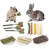 5PCS Guinea Pig Chew Toys, Natural Chinchilla Treats, Teeth Care Toys, Help The Healthy Growth of Small Pet Teeth, for Chinchilla Squirrel Gerbil Hamster Squirrel Guinea Pigs Etc