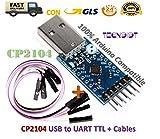 TECNOIOT CP2104 USB to RS232 TTL UART 6PIN Connector Module Serial Converter |CP2104 Convertidor en Serie de Conector USB a RS232 TTL UART 6PIN