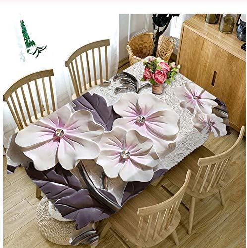 JDCFAS tafelkleed 3D klassiek bloemenpatroon zeil dikke rechthoekige bruiloft Home decoratie 140Cmx200Cm