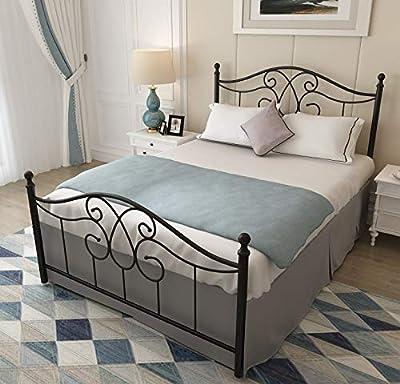 6603 6606 Vintage Sturdy Metal Bed Frame with Headboard