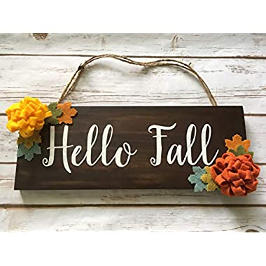 Fall Door Decorations Fall Wooden Sign Fall Sign Harvest Sign Fall Yall Hanging Sign Autumn Wreath Floral Wood Door Sign