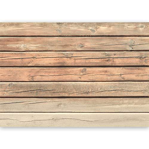 murando - Fototapete XXL Holzoptik 500x280 cm Vlies Tapeten Wandtapete XXL Moderne Wanddeko Design Wand Dekoration Wohnzimmer Schlafzimmer Büro Flur Holz Bretter f-A-0459-a-b