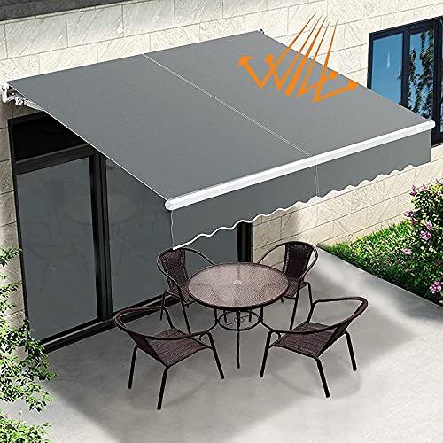 N\C Aone 3 x 2.5m Folding Manual Awning, DIY Manual Patio Retractable Sun Shade...
