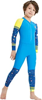 WoCoo Kids Sunscreen Wetsuit Thermal Surfing Suit, One Piece Long Sleeve Diving Suit,for Youth Boys and Girls