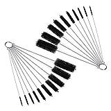 DIY Crafts Nylon Tube Brush Set, Nylon Cleaning Brushes 20 Pieces for Drinking Straws Glasses Keyboards Jewelry Cleaning, Antistatic Brushes, Beaker Cleaning Brushes (Design No # 3, 2 Set of 10 Pcs)