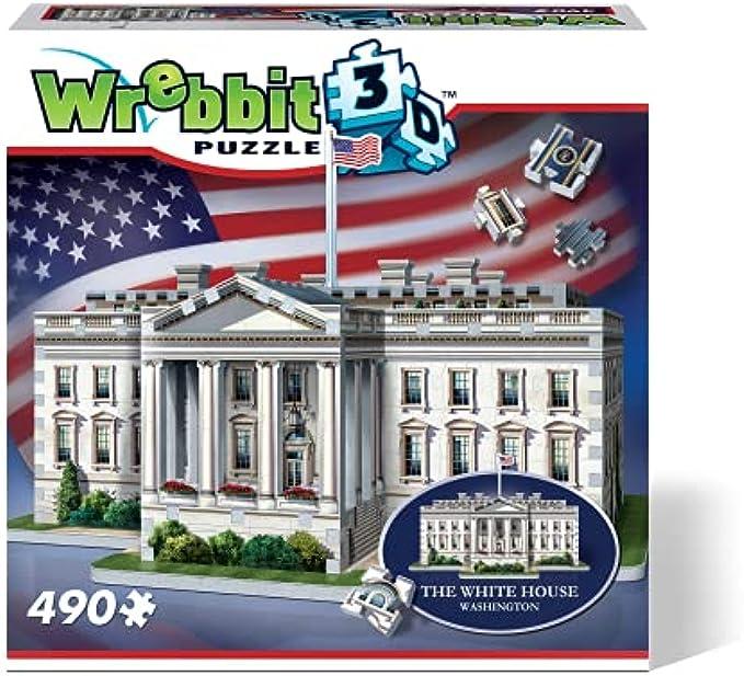 WREBBIT 3D The White House - 3D Jigsaw Puzzle (490 pieces)