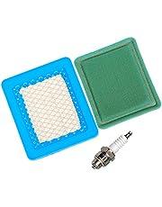 Filtro de aire OuyFilters con prefiltro y bujía para cortacéspedes Briggs & Stratton y Quantum