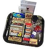 BIGSMOKESUPPLIES - Juego de bandeja grande para tabaco de liar, ideal como set de regalo para fumadores