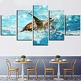 5 piezas cuadro en lienzo Cuadro compuesto por 5 lienzos impresos en...