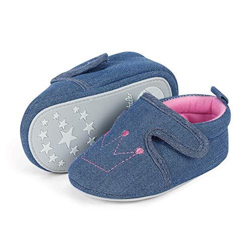 Sterntaler Baby Mädchen Krabbelschuh Slipper, Blau (Marine 300), 16 EU
