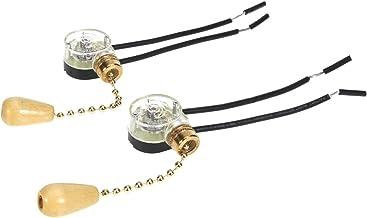 3 piezas de cadena de tracci/ón para ventilador de techo Mobestech repuesto de interruptor de cadena de encendido//apagado