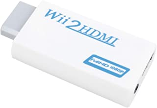 SODIAL(R) Convertidor Wii a HDMI Adaptador Convertidor de Audio 480P 3.5mm Wii-link