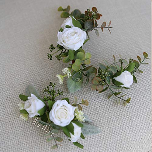 tocados boda,flores pelo,tocados pelo,adornos pelo,peinetas pelo,Accesorios de peine para el cabello de...