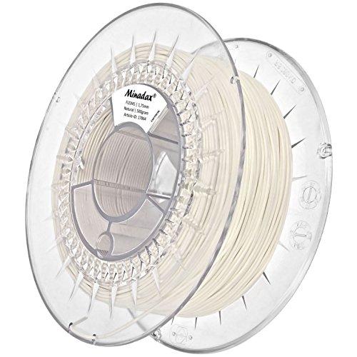 Minadax 0,5kg qualità premium 1,75mm Flex filamento di natura per stampante 3d prodotto in Europa