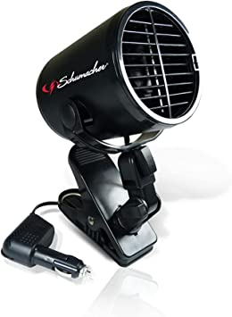 Schumacher Turbo Fan with Heavy-Duty Clamp - 12V - for Cars, Trucks, Buses, RVs, and Boats: image