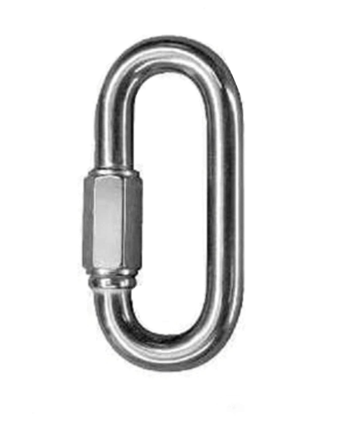 5 Sizes O-Shape Stainless Steel Oval Screw Lock Carabiner Quick Hook Keychain CS
