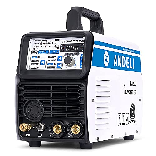 ANDELI Aluminum Welder AC/DC TIG welder, TIG-250PE MMA/LIFT TIG/HF TIG/three-in-one 220V 180AMP Digital TIG welding machine (TIG & MMA SUIT)