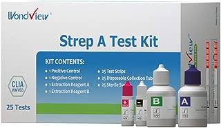 Wondview Strep A Test Kit for Strep Throat Testing Group A Strep Antigen, CLIA Waived Test (25 Pack)