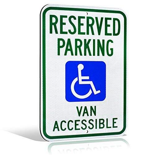 None Brand Reflektierendes Aluminium Handicap Reserved Van Zugänglicher Rollstuhl Icon M