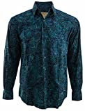 Indo Beach Tropical Hawaiian Batik Shirt By Johari West L, Sapphire, Sapphire